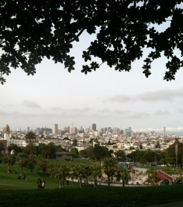 View from the top of Dolores Park